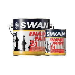 Βερνικόχρωμα Διαλύτου Swan για Ξύλα και Μέταλλα Μαύρο Γυαλιστερό 750ml