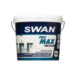 Ακρυλικό Χρώμα Swan Pro Max Acrylic Εξωτερικής Χρήσης Λευκό 3Lt