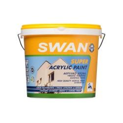 Ακρυλικό Χρώμα Swan Super Acrylic Εξωτερικής Χρήσης Εξαιρετικής Ποιότητας Λευκό 750ml