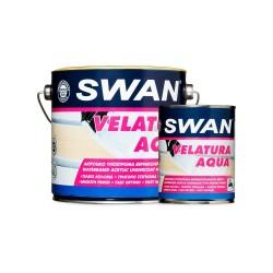 Υπόστρωμα Βερνικοχρωμάτων - Βελατούρα Βάσεως Νερού Swan Λευκό 750ml