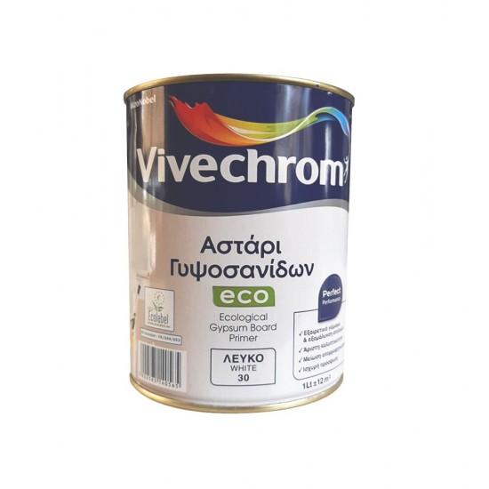 Οικολογικό Ακρυλικό Υδατοδιαλυτό Αστάρι Γυψοσανίδων Vivechrom 1Lt