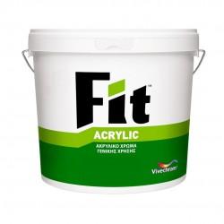 Ακρυλικό Χρώμα Vivechrom Fit Acrylic Εξωτερικής Χρήσης Λευκό 3Lt