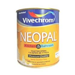 Πλαστικό Χρώμα Vivechrom Super Neopal Eco Εσωτερικής Χρήσης Οικολογικό Λευκό 750ml