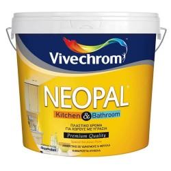 Πλαστικό Χρώμα Vivechrom Neopal Kitchen & Bathroom Eco Εσωτερικής Χρήσης Αντιμουχλικό Οικολογικό Λευκό 3Lt