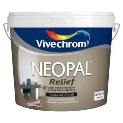 Ανάγλυφο Διακοσμητικό Επίχρυσμα Vivechrom Neopal Relief Λευκό 15Kg