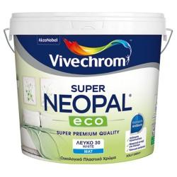 Πλαστικό Χρώμα Vivechrom Super Neopal Eco Εσωτερικής Χρήσης Οικολογικό Λευκό 10Lt