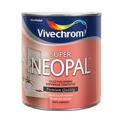 Πλαστικό Χρώμα Vivechrom Super Neopal Εσωτερικής Χρήσης Λευκό 375ml