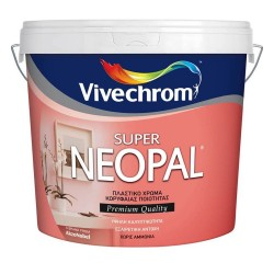 Πλαστικό Χρώμα Vivechrom Super Neopal Εσωτερικής Χρήσης Λευκό 10Lt