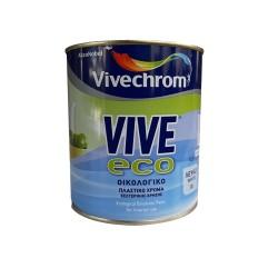 Πλαστικό Χρώμα Vivechrom Vive Eco Εσωτερικής Χρήσης Οικολογικό Λευκό 750ml