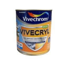 Ακρυλικό Χρώμα Vivechrom Vivecryl Eco Εξωτερικής Χρήσης Οικολογικό Λευκό 750ml