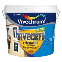 Ακρυλικό Ελαστομερές Μονωτικό και Χρώμα Vivechrom Vivecryl Elastic Eco Εξωτερικής Χρήσης Οικολογικό Λευκό 3Lt