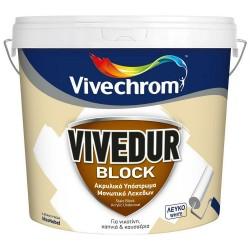 Ακρυλικό Υπόστρωμα Μονωτικό Λεκέδων Vivechrom Vivedur Block 3Lt Λευκό