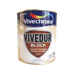 Ακρυλικό Υπόστρωμα Μονωτικό Λεκέδων Vivechrom Vivedur Block 750ml Λευκό