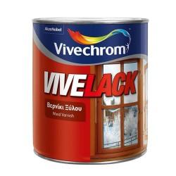 Διακοσμητικό και Προστατευτικό Βερνίκι Ξύλου Βάσεως Διαλύτου Vivechrom Vivelack Άχρωμο Γυαλιστερό 200ml