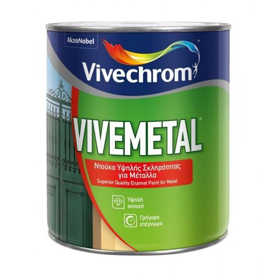 Ντουκόχρωμα Υψηλής Σκληρότητας για Μέταλλα Vivechrom Vivemetal Μαύρο Σατινέ 750ml
