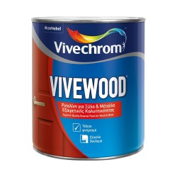 Ριπολίνη Διαλύτου Vivechrom Vivewood Λευκό Γυαλιστερό 2.5Lt