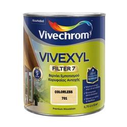 Βερνίκι Εμποτισμού Ξύλου Βάσεως Διαλύτου Κορυφαίας Αντοχής Vivechrom Vivexyl Filter 7 701 Άχρωμο Σατινέ 750ml