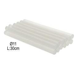 Ράβδοι - Κόλλα Διάφανης Σιλικόνης για Πιστόλι Θερμόκολλας 36 τμχ 11mm x 30cm