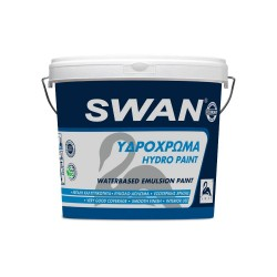 Υδρόχρωμα Swan Εσωτερικής Χρήσης Λευκό 3Lt